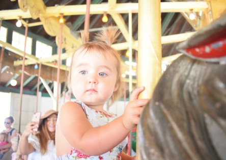 We waited an hour for Carousel Day and she was not impressed.