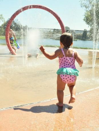 The splash pad was a favorite!