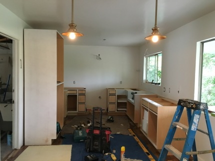 Kitchen and bathroom construction.