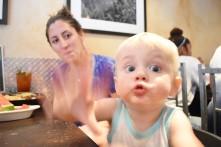 Brunch with one crazy nephew.