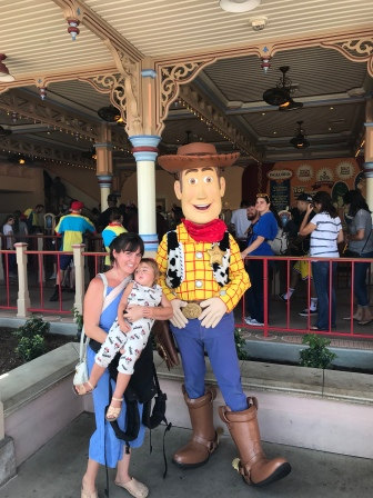 She LOVED meeting Woody!